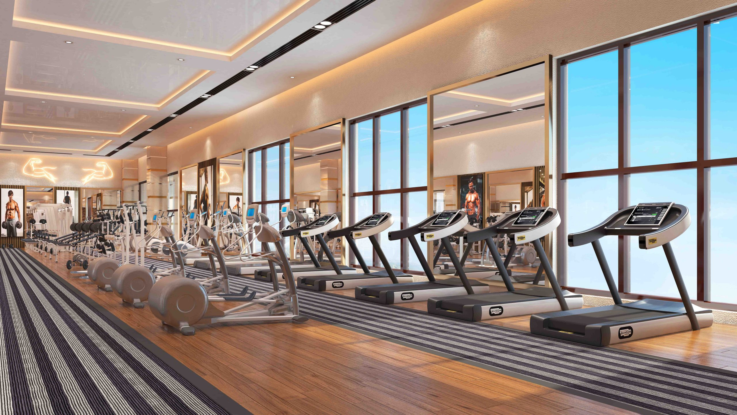 Gym also available in gulberg islamabad