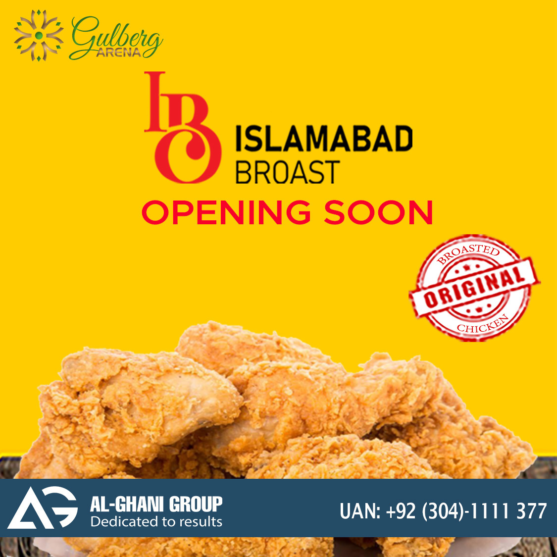 Islamabad Broast outlet in gulberg arena food court at Gulberg Greens Islamabad