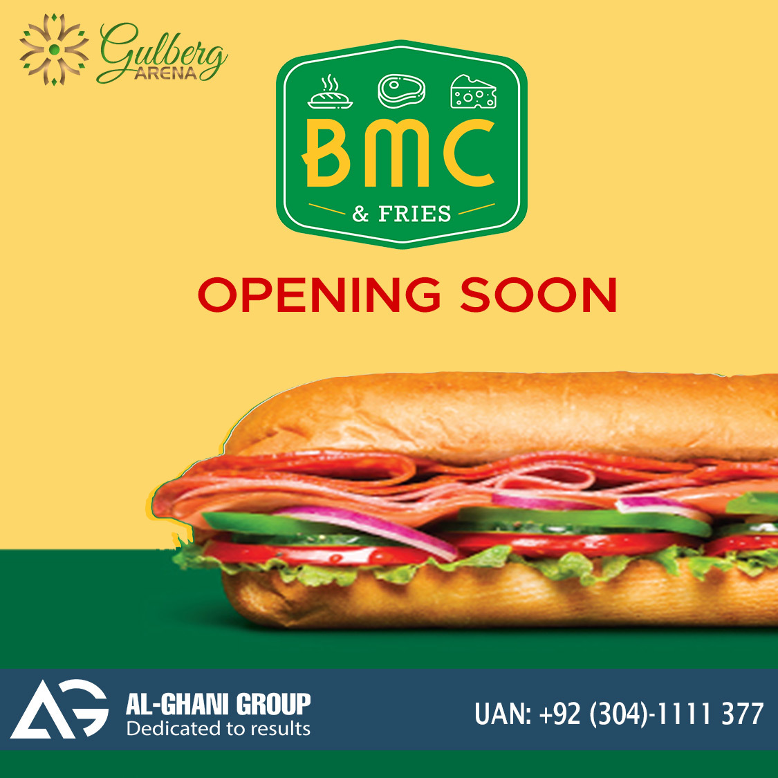 BMC outlet in Food Court gulberg arena food court at Gulberg Greens Islamabad