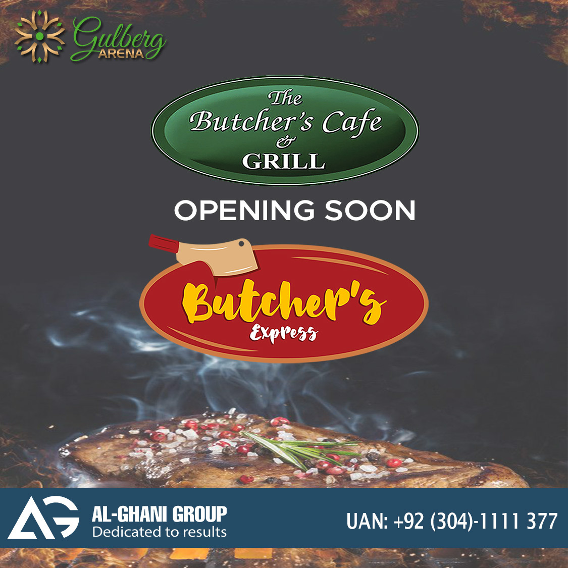 Butchers Express outlet in gulberg arena food court at Gulberg Greens Islamabad