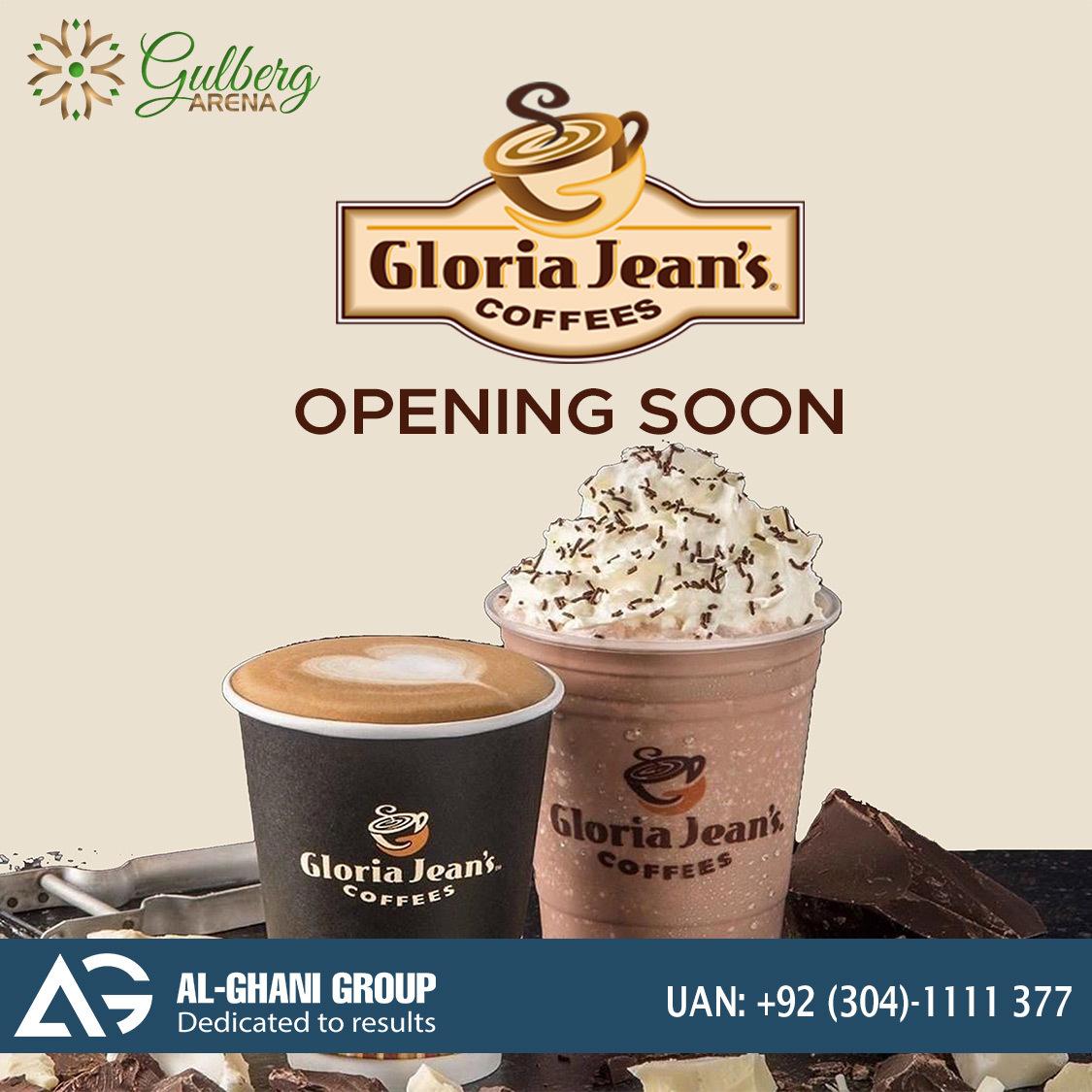 Gloria Jean's coffee court in gulberg greens, gulberg arena mall islamabad
