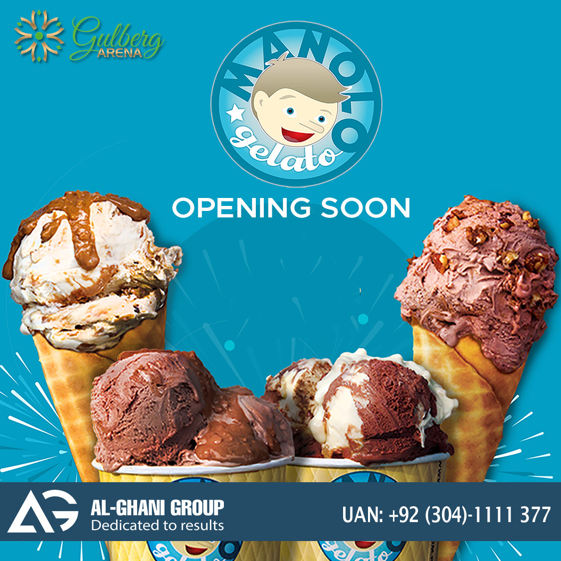 Manolo outlet in food court gulberg arena at Gulberg Greens Islamabad