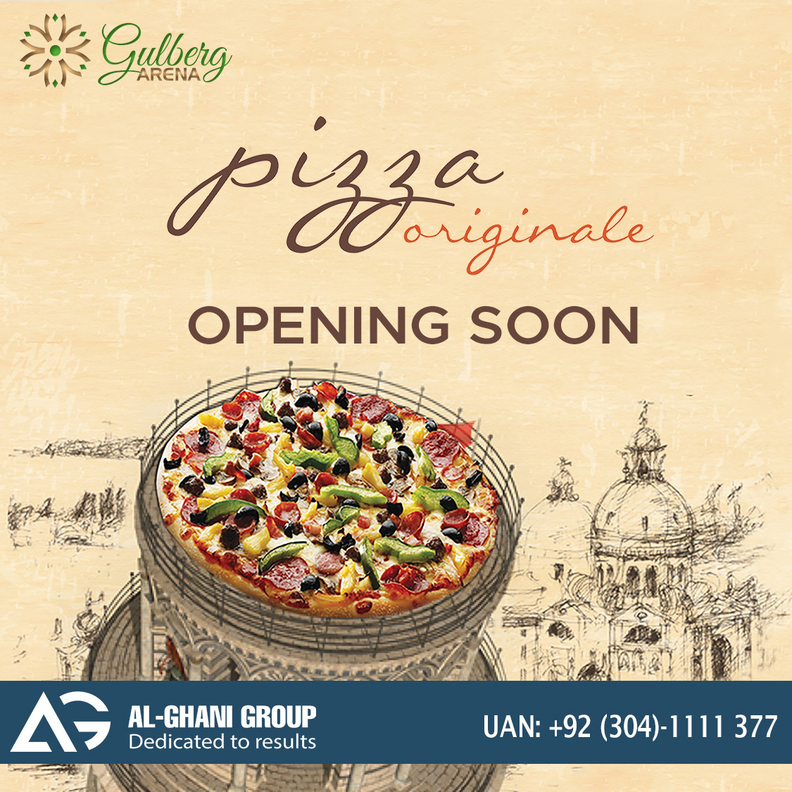 Pizaa originals outlet in Food Court gulberg arena at Gulberg Greens Islamabad