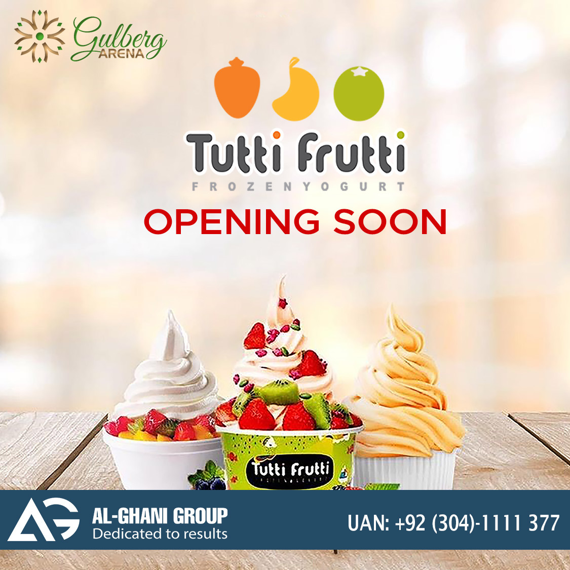 Tutti Frutti outlet in Food Court gulberg arena at Gulberg Greens Islamabad